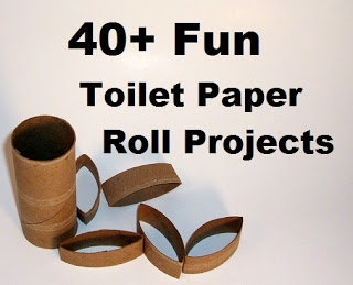 40 + Fun Toilet Paper Roll – Craft Projects. Great ideas for the kids and myself :) #recycle