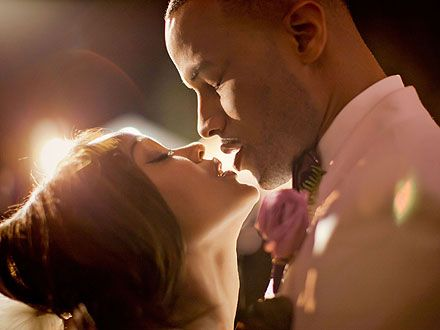LOVE. A beautiful photo of Meagan Good and DeVon Franklin on their wedding day.