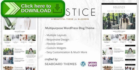[ThemeForest]Free nulled download Solstice - A WordPress Shop Blog Theme from http://zippyfile.download/f.php?id=30899 Tags: blog, blog theme, blogger, fashion, feminine, food, hipster, magazine, minimal, personal blog, shop, slider, translation ready, travel, wordpress blog theme
