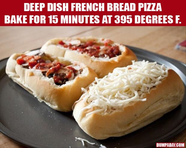 Deep Dish French Bread Pizza | Looks Delicious | Pinterest
