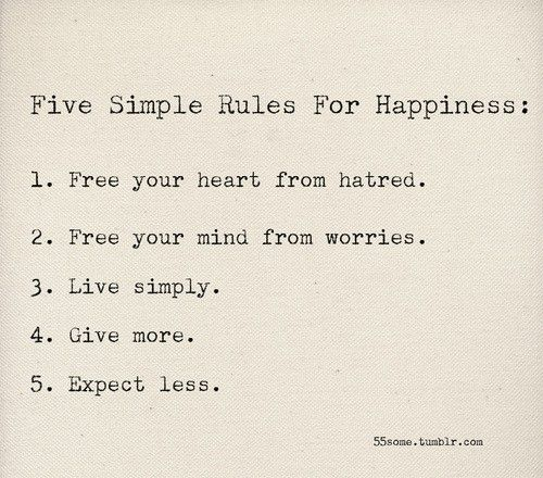 Rules to live by..