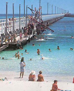 Busselton Jetty, the longest jetty in the Southern Hemisphere. Almost 2km long. Western Australia