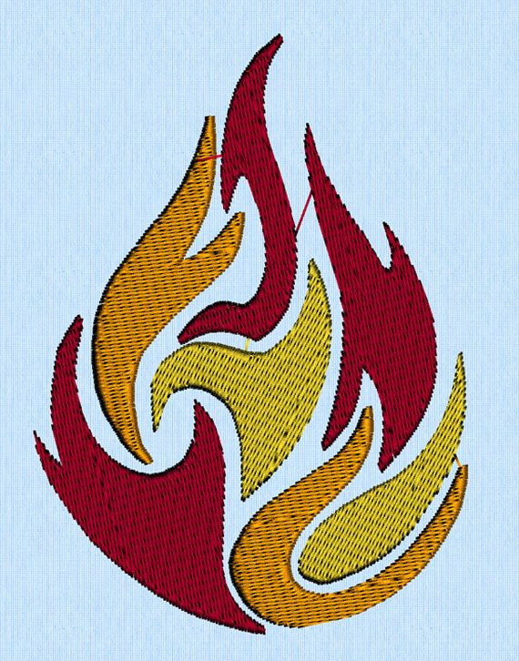 Dancing Fire Blaze Flames machine embroidery design file