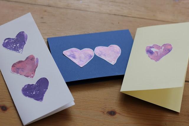 The Imagination Tree: Potato Print Heart Cards
