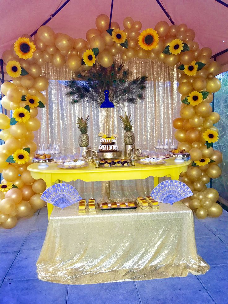 Oshun Party Decoration Sunflower birthday parties