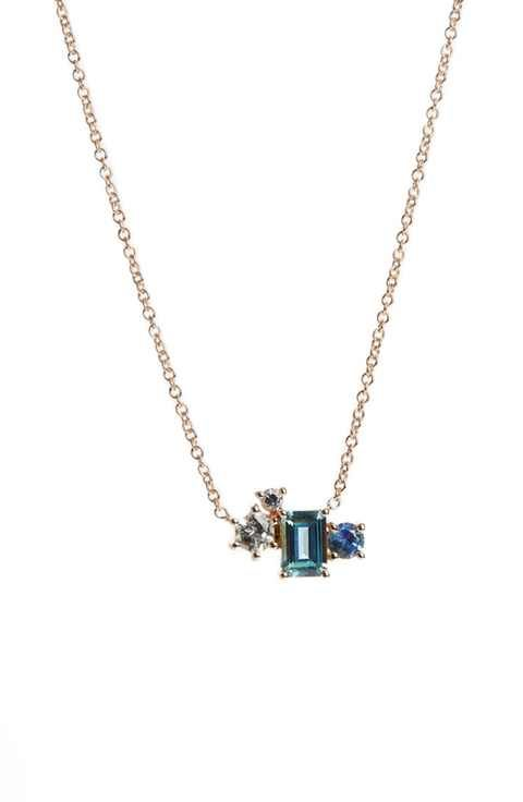 MOCIUN Sapphire & Diamond Pendant Necklace (Nordstrom Exclusive)