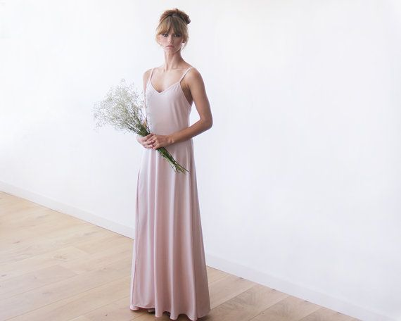 Birthday SALE Blush pink open back dress Maxi par BLUSHFASHION