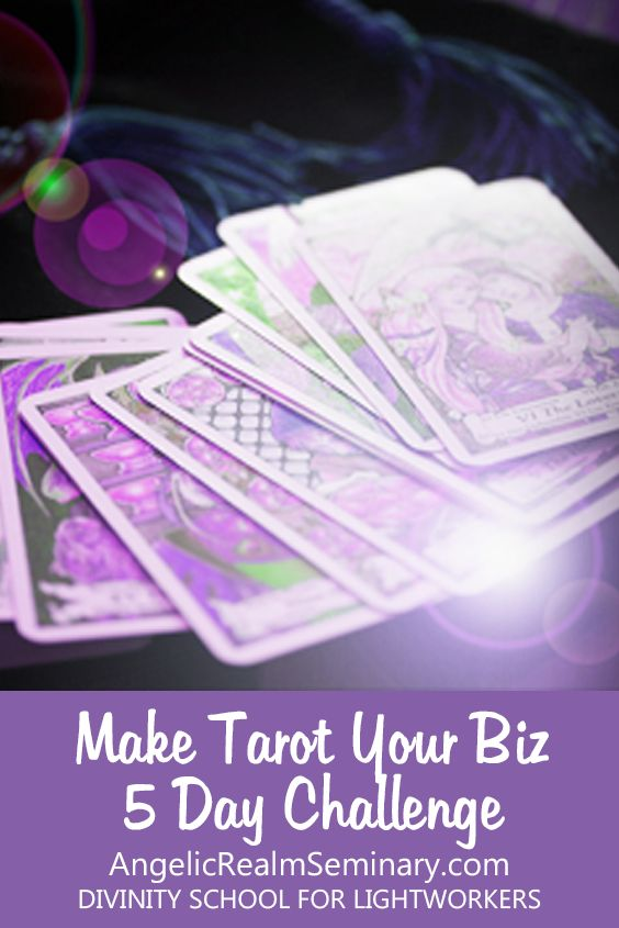 ARE YOU WONDERING IF IT'S TRULY POSSIBLE TO EARN AN INCOME FROM SELLING TAROT READINGS?  If you're an intuitively gifted Psychic Reader, Spiritual Healer, Metaphysical Teacher, or Empathic Lightworker lady boss hustling hard to start your own online Tarot or Oracle card reading business but running into roadblocks getting your biz up and running, this challenge was created specifically for you! http://www.angelicrealmseminary.com/make-tarot-business-5-day-challenge/ #makeyourowntarotcards