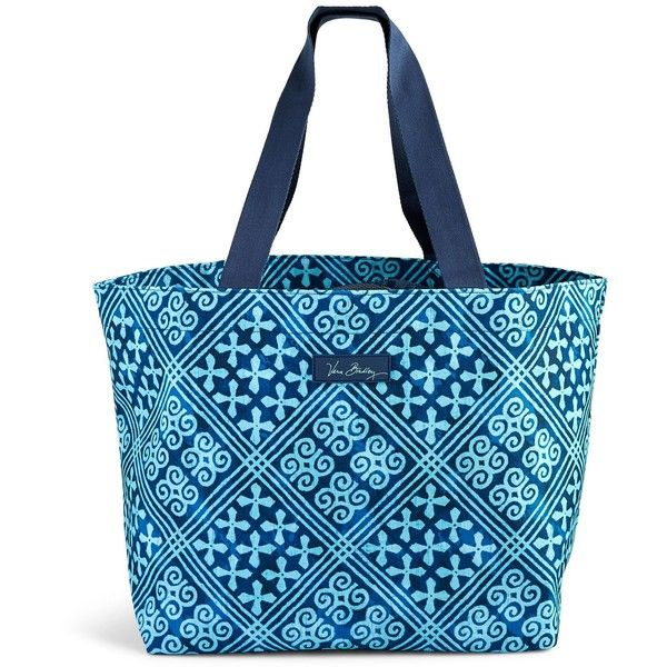 Vera Bradley Drawstring Family Tote in Havana Dots ($58) ❤ liked on Polyvore featuring bags, handbags, tote bags, cuban tiles, travel tote bags, blue tote, vera bradley tote bags, beach tote and blue tote bag