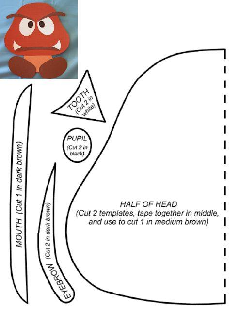 Meio Ligado: Super Mário - Moldes dos personagens