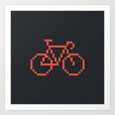 Pixelbike Art Print by Horváth László - $14.56