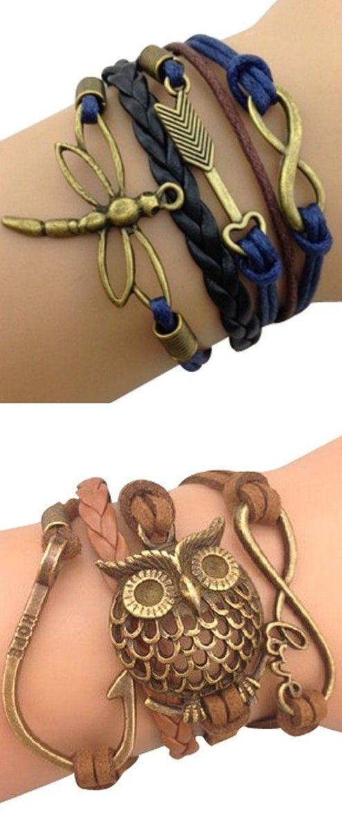 Leather Wrap Bracelets ♥