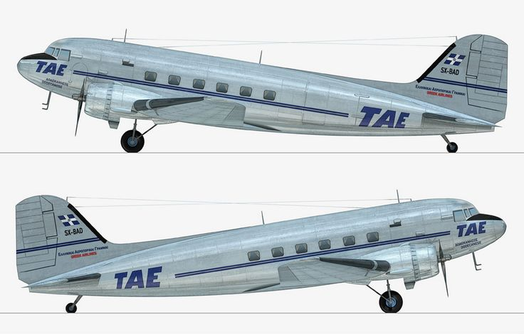 TAE-Greek National airlines Douglas C-47A-30-DL Skytrain (DC-3) [SX-BAD]