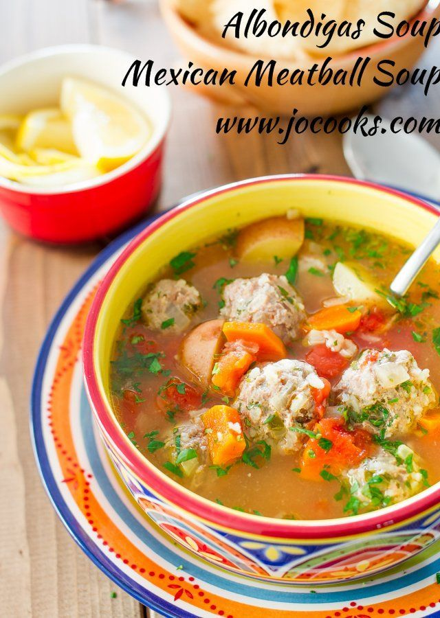 Mexican Meatball Soup Food Network