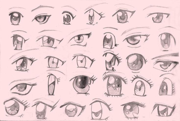 dibujar ojos anime paso a paso - Buscar con Google