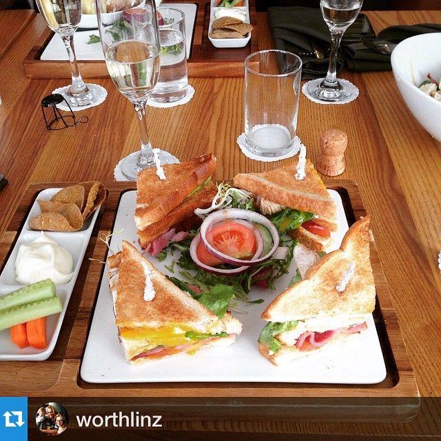 """#Repost @worthlinz ・・・""""Lunch x #delish"""" enjoying our #spas Club Sandwiche!"""