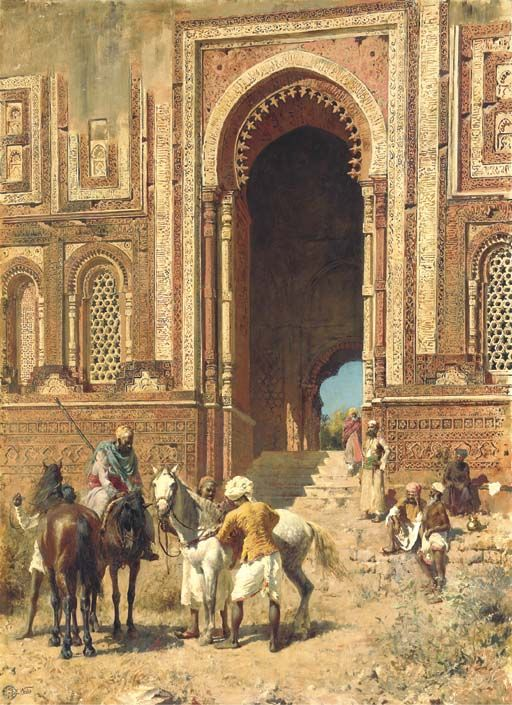 "Colonial-era etchings and artwork - SkyscraperCity www.skyscrapercity.com512 × 705Buscar por imagen ""Indian Horsemen at the Gateway of Alah-ou-din, Old Delhi,"" by Edwin Lord Weeks, c.1895"