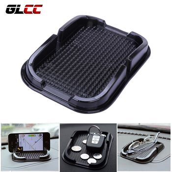 GLCC Sticky Gel Pad Anti Slip Mat For Phone Car Dashboard Sticky Pad Holder Magical Silicone Gel Pad Black Car Accessories  Price: 3.44 USD