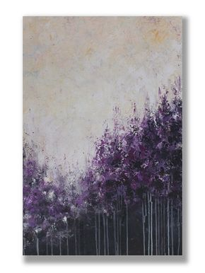 Purple Forest Original Acrylic Painting Art Abstract by mgotovac