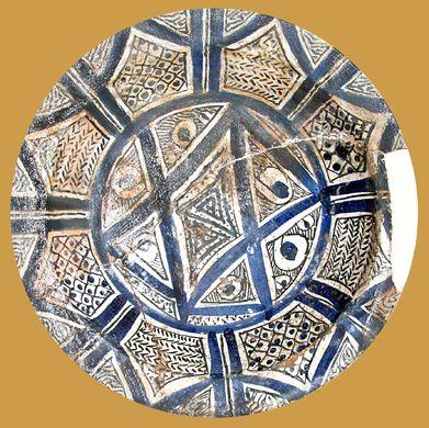 İznik Milet ware, dish, red clay, 30 cm,15th century, İstanbul Archeology Museum
