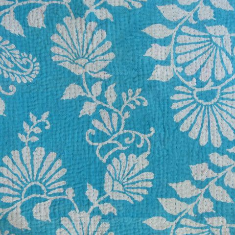Turquoise and kantha, two more of my favourites.
