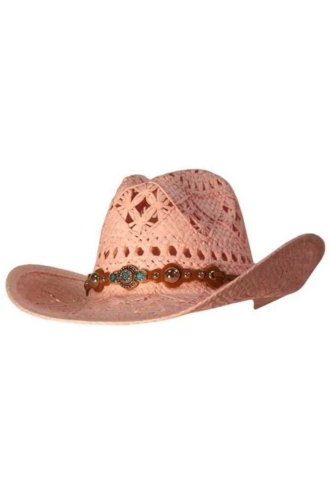 ... new zealand open weave cowboy hat with western hatband 23f93 7d25a ... 7f494b889ec0