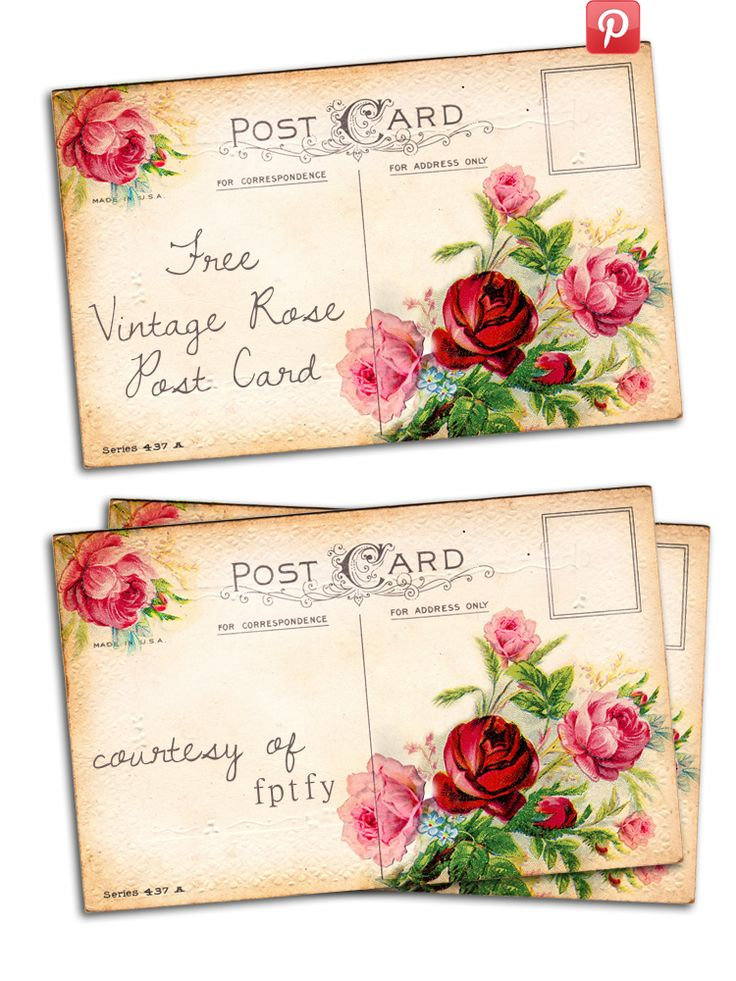 Free Vintage Altered Art Romantic Rose Post Card @penny shima glanz shima glanz shima glanz shima glanz Douglas Pretty Things For You