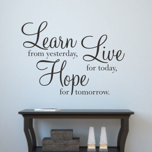 Wall Quotes Inspiration 32 Best Wall Quotes And Sayings Images On Pinterest  Vinyl Wall
