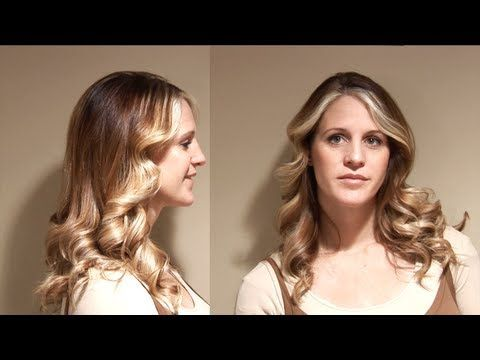 Flat Iron Curls // 70's hair flip // Hair 101 Tutorials - YouTube