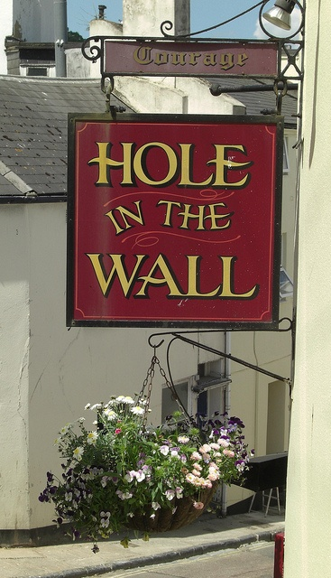 Pub sign Hole in the Wall Torquay
