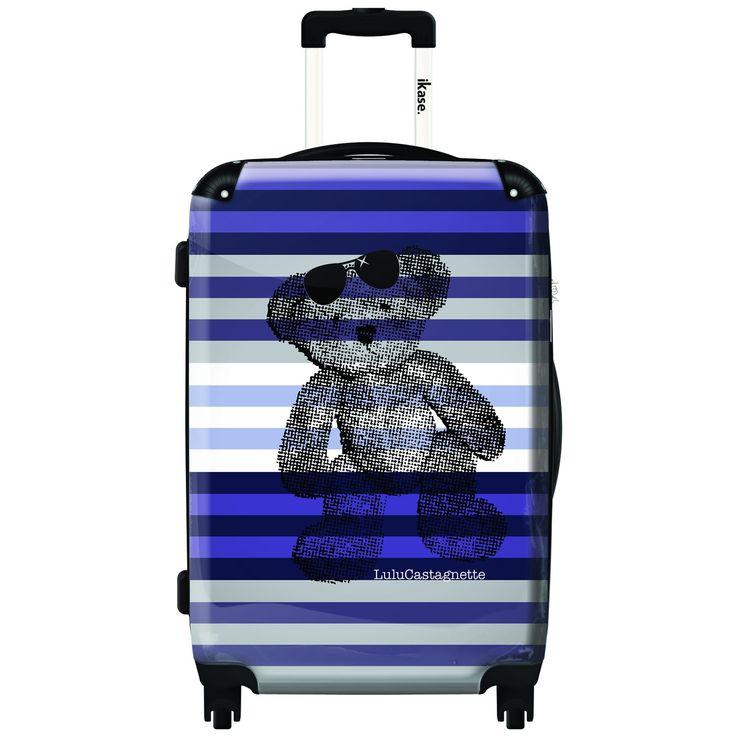 iKase 'Lulu Castagnette Stripes' 24-inch .Hardside Spinner Luggage