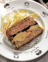 pâté de canard truffé au foie gras - duck pâté stuffed with foie gras