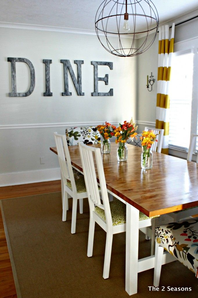 ikea dining room table hack staining a dining room table the 2 seasons dining wall decor ideaswall - Dining Room Decor Ideas Pinterest