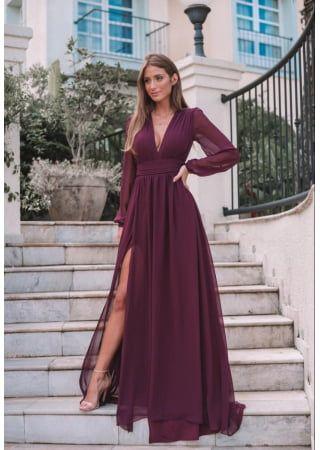 VESTIDO ALE MARSALA - Toth Store - A Sua Loja Online de Moda Feminina em 2021   Vestidos, Vestidos longos elegantes, Vestidos estilosos