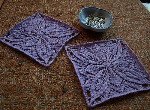 square/lace motif top Knitting Pinterest