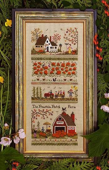 Pumpkin Patch Farm Sampler - Cross Stitch Pattern  by Victoria Sampler