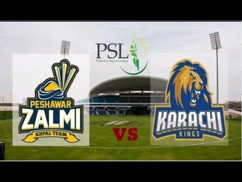 PSL Live: Peshawar Zalmi vs Karachi Kings 3rd playoff Live