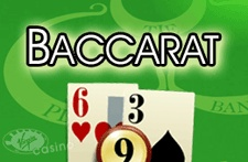 Baccarat ! Back yourself or the banker in this all time classic. The closest to 9 wins and a tie pays 8 to 1. Baccarat is a truly classic casino game.