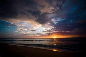 Spectacular sunsets in Robertsport, Liberia