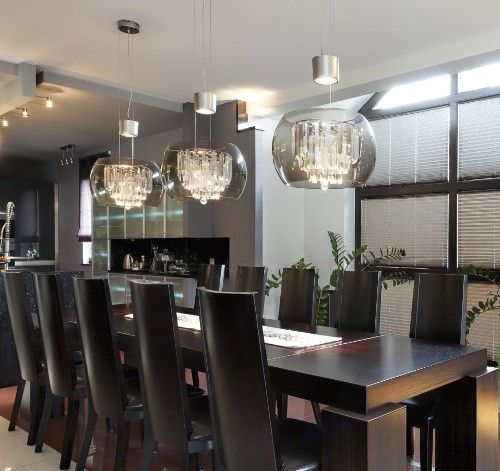42 best pendant lights over tables images on pinterest for Dining room table lighting fixtures