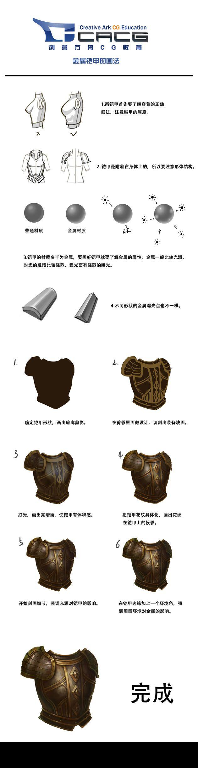 本周分享一个《铠甲的绘制过程》