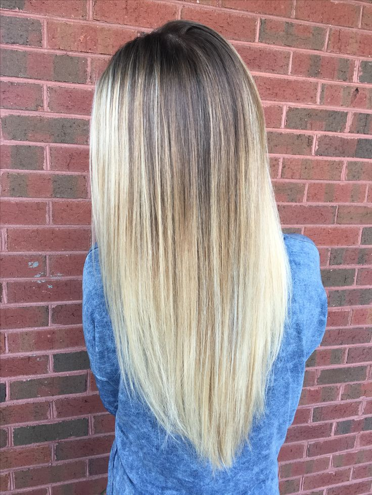 Cool Tone Icy Blonde With Natural Roots As Lowlights