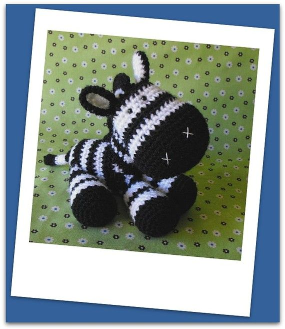 Cute crocheted zebra pattern