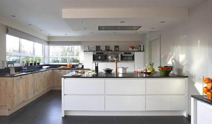 Keuken met tafelblad google zoeken huis pinterest - Moderne keuken deco keuken ...