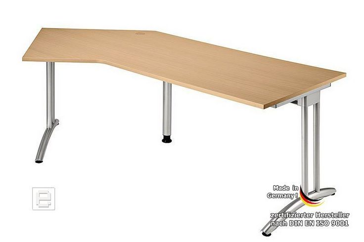 Winkelschreibtisch »ERGONOMIC B« in Buche Dekor - 210 x 113cm Jetzt bestellen unter: https://moebel.ladendirekt.de/buero/tische/schreibtische/?uid=1aa4f469-4378-5e2f-a32f-ddd87966ed56&utm_source=pinterest&utm_medium=pin&utm_campaign=boards #buero #büroschreibtische #winkeltische #winkelschreibtische #eckschreibtische #arbeitsschreibtische #arbeitstische #computertische #tische #schreibtische