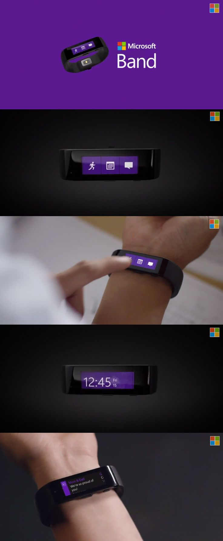 Microsoft announced it's first wearable, Microsoft Band. The companion Microsoft Health app is available on Windows Phone, iPhone and Android.