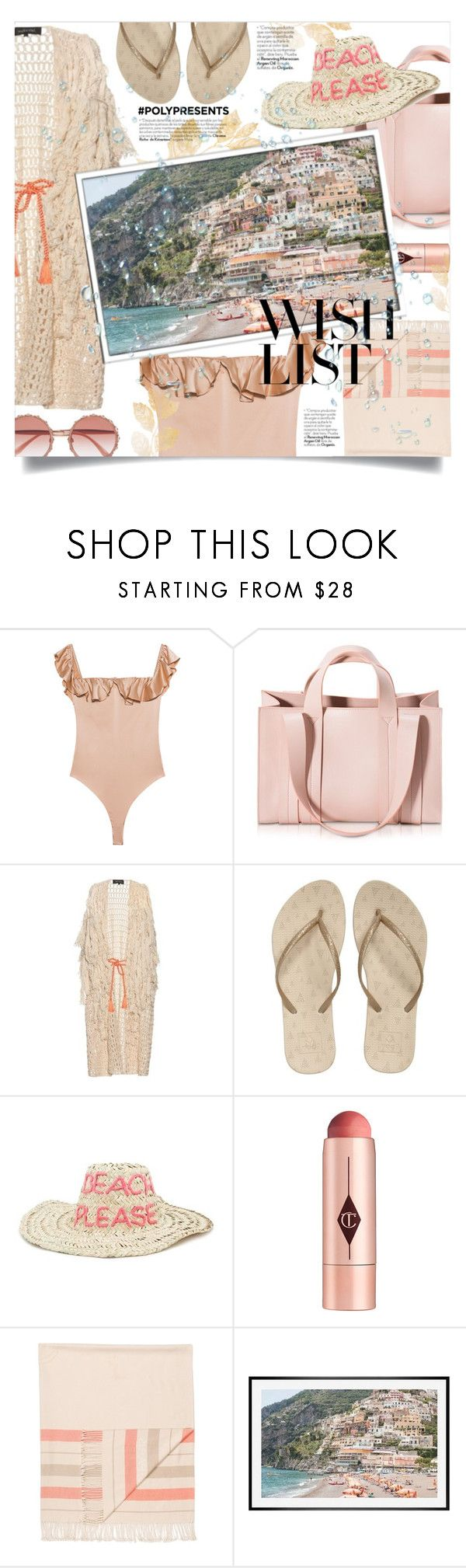 """#PolyPresents: Wish List"" by devaanggraenii ❤ liked on Polyvore featuring For Love & Lemons, Corto Moltedo, Tabula Rasa, Reef, Forever 21, Charlotte Tilbury, Hermès, Pottery Barn, Dolce&Gabbana and contestentry"