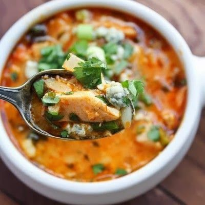 Paleo Buffalo Chicken Soup recipe. Leave out the honey and it's Whole 30 approved!!