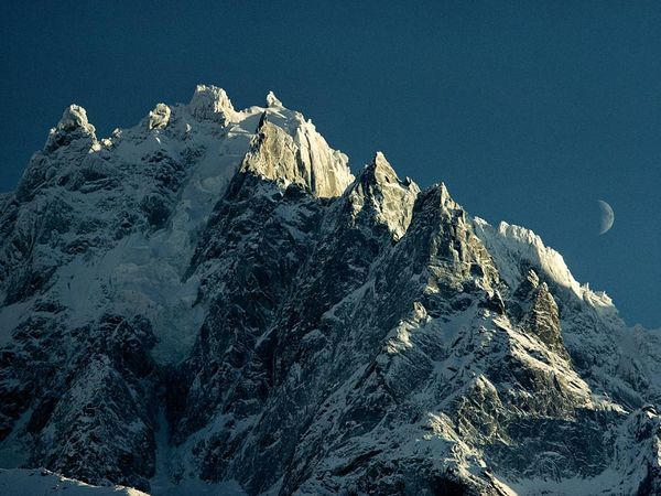 Mont Blanc...highest peak in the Alps, located between France and Italy