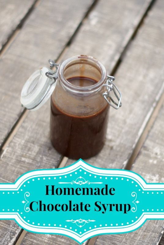 Chocolate Syrup Recipe ~ An easy recipe for chocolate syrup made from scratch! Tastes just like Hershey's!